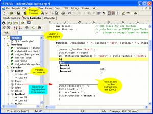 โปรแกรม PSPad โปรแกรมช่วยเขียนโค้ด