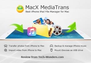 โปรแกรม MediaTrans ซิงค์ข้อมูลอุปกรณ์ iOS บนเครื่อง Mac